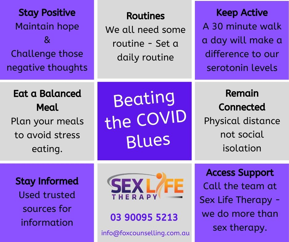 Beating the Covid Blues @ Sex Life Therapy